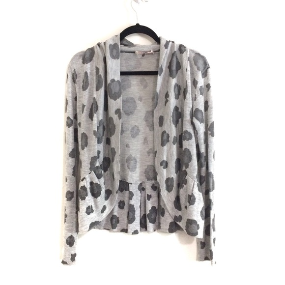 Rebecca Taylor Sweaters - Rebecca Taylor Leopard Print Open Front Cardigan